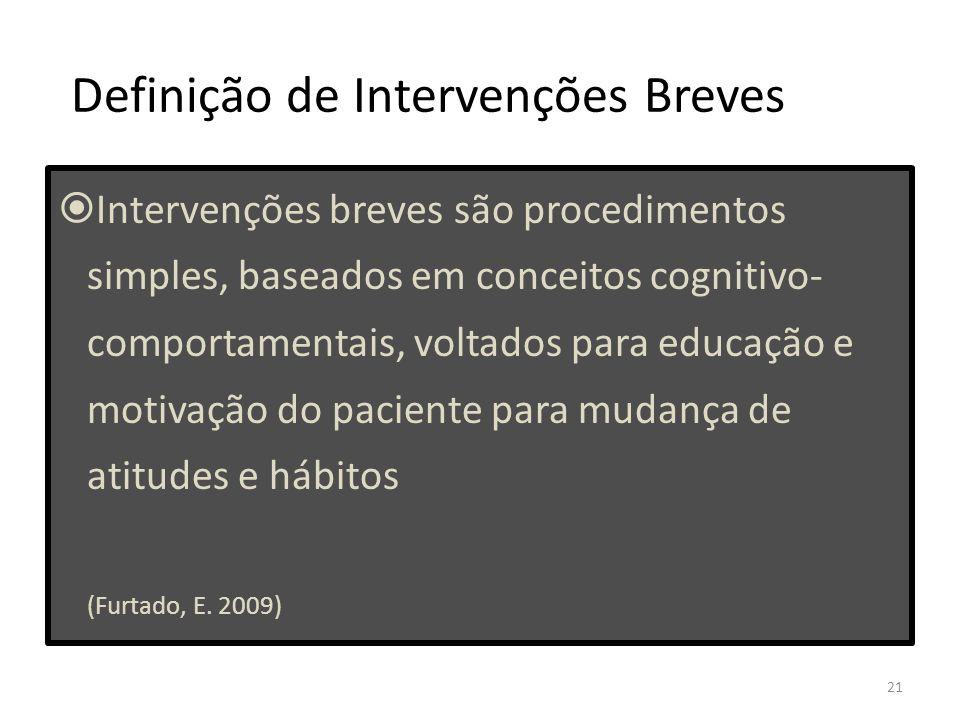 Definição de Intervenções Breves