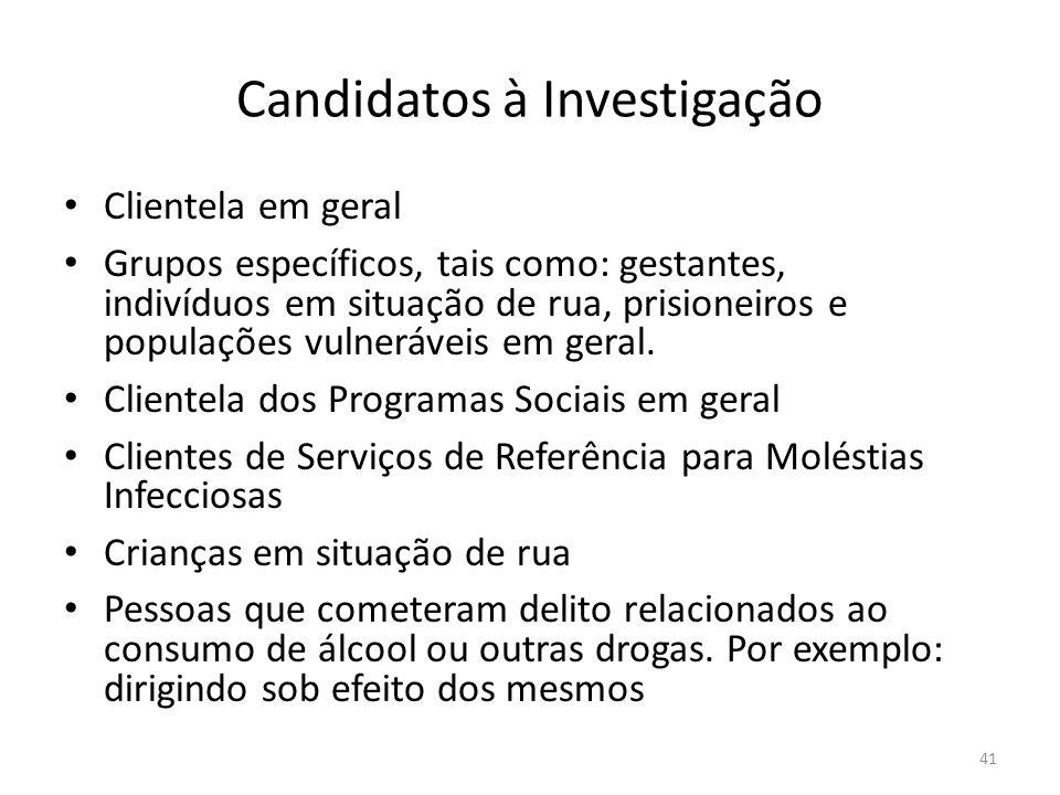 Candidatos à Investigação