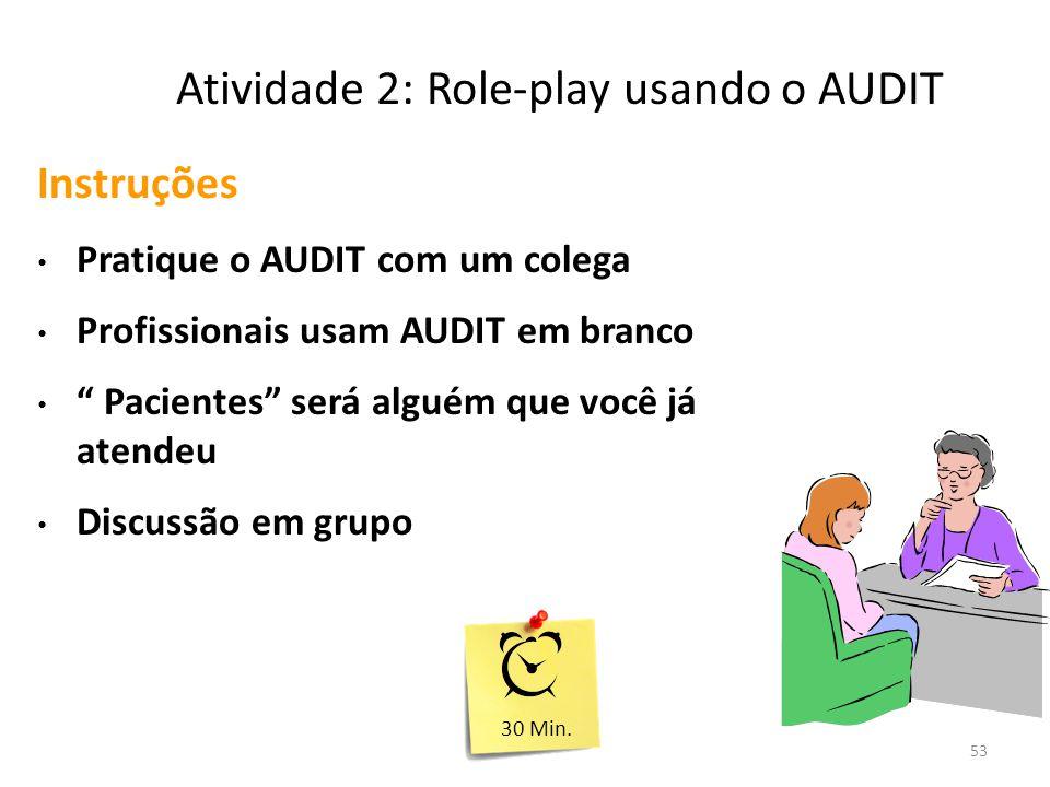 Atividade 2: Role-play usando o AUDIT