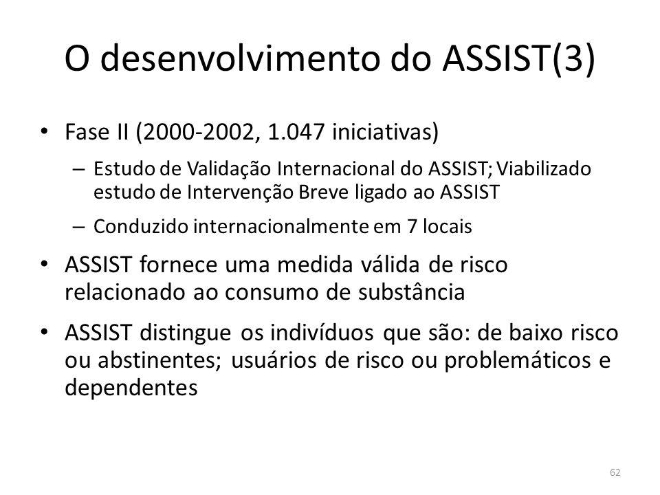 O desenvolvimento do ASSIST(3)