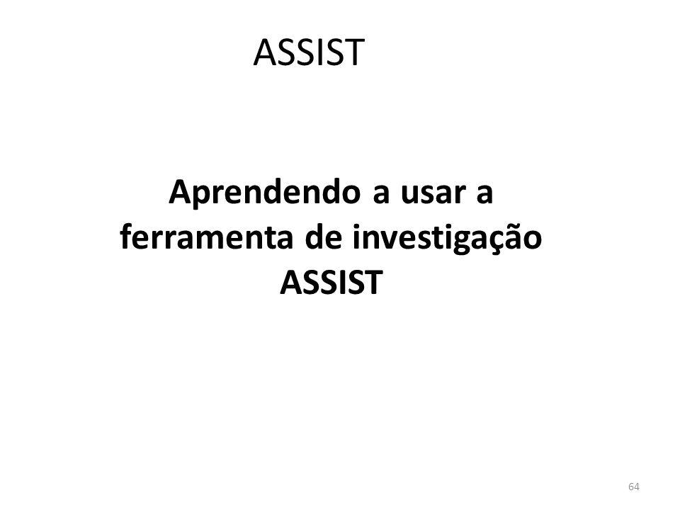 Aprendendo a usar a ferramenta de investigação ASSIST
