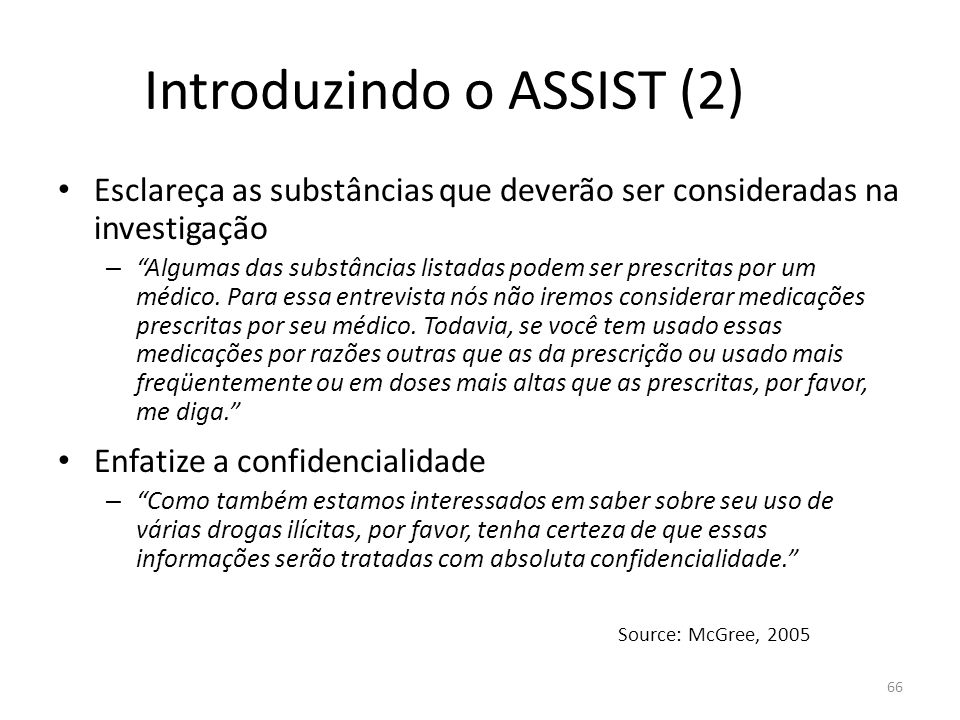 Introduzindo o ASSIST (2)