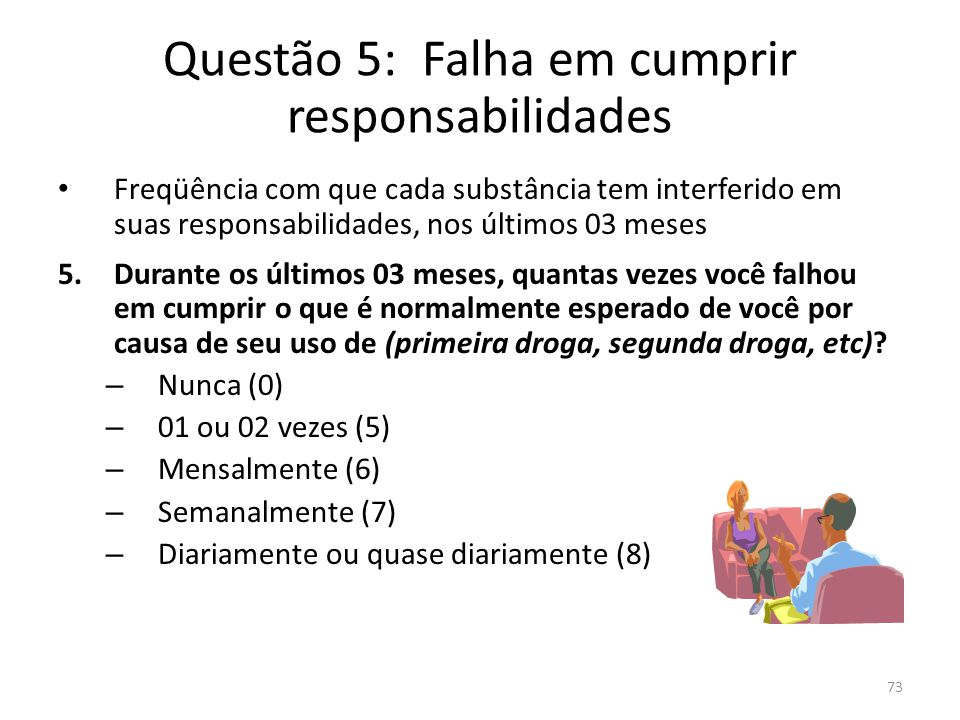 Questão 5: Falha em cumprir responsabilidades