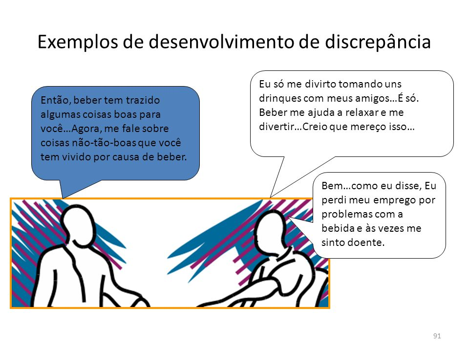 Exemplos de desenvolvimento de discrepância