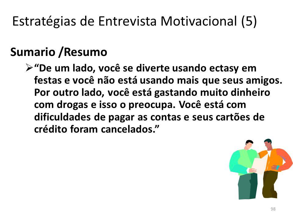 Estratégias de Entrevista Motivacional (5)
