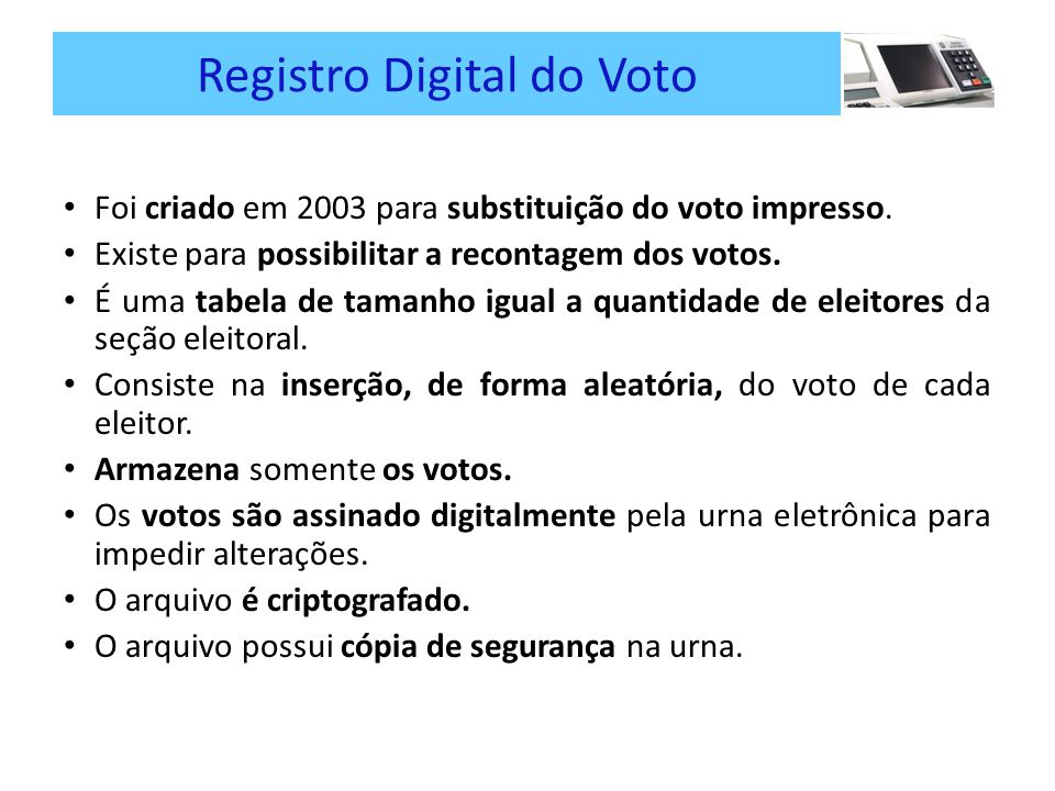 Registro Digital do Voto