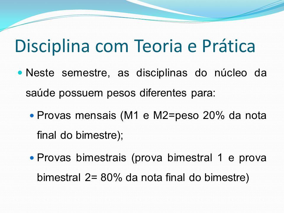Disciplina com Teoria e Prática