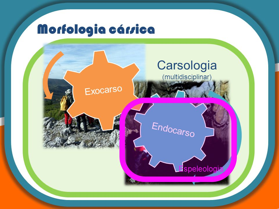 Morfologia cársica Carsologia Espeleologia (multidisciplinar) Karst