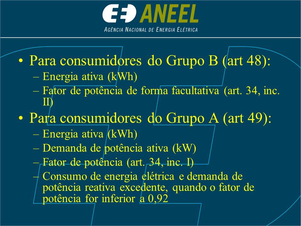 Para consumidores do Grupo B (art 48):