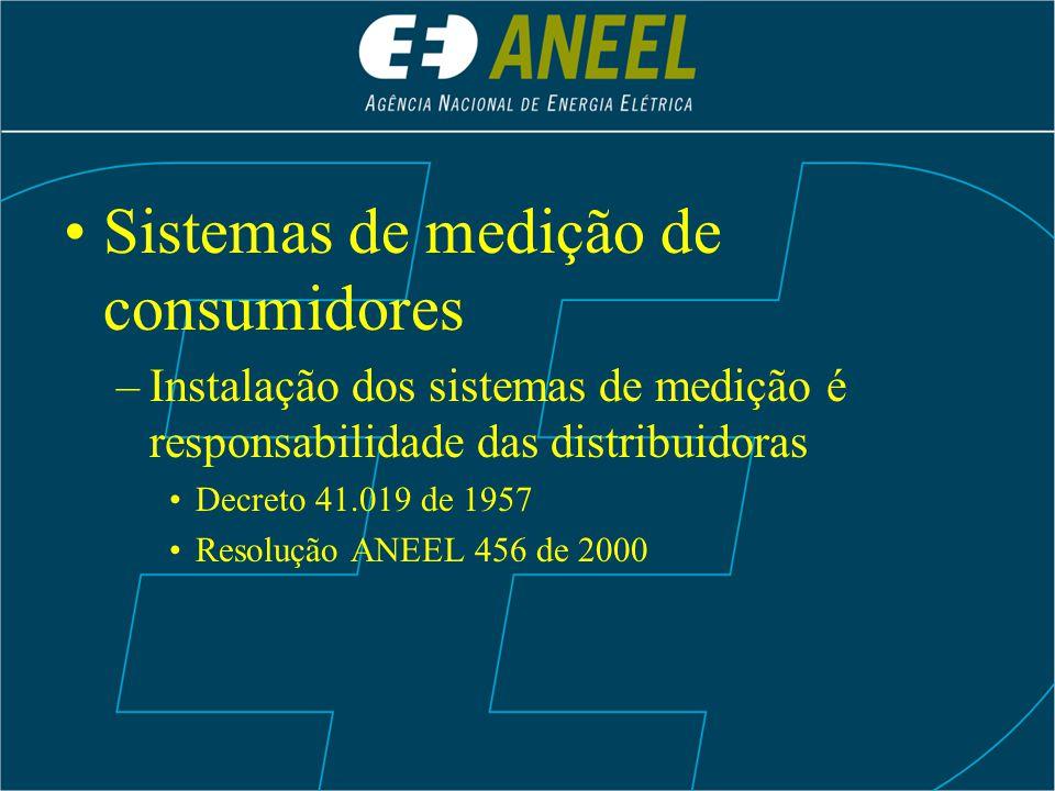 Sistemas de medição de consumidores