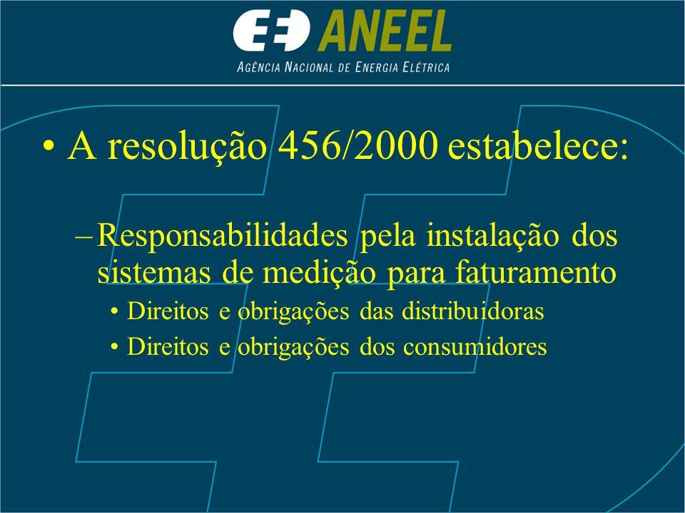 A resolução 456/2000 estabelece: