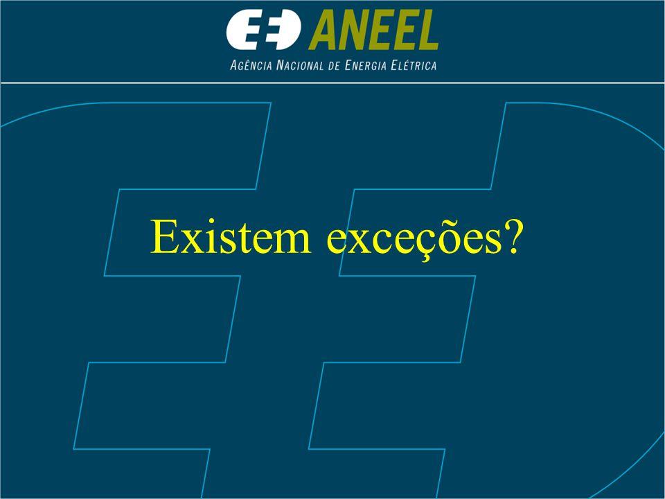 Existem exceções