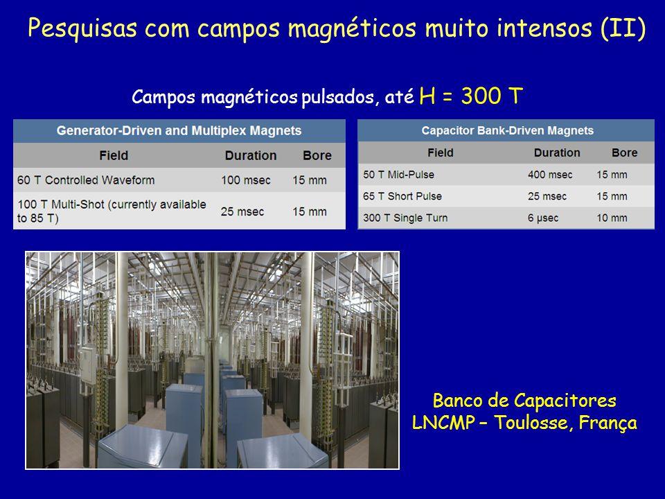 Pesquisas com campos magnéticos muito intensos (II)