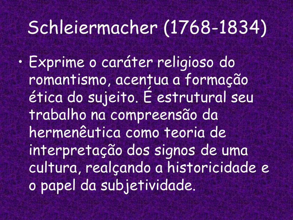 Schleiermacher (1768-1834)