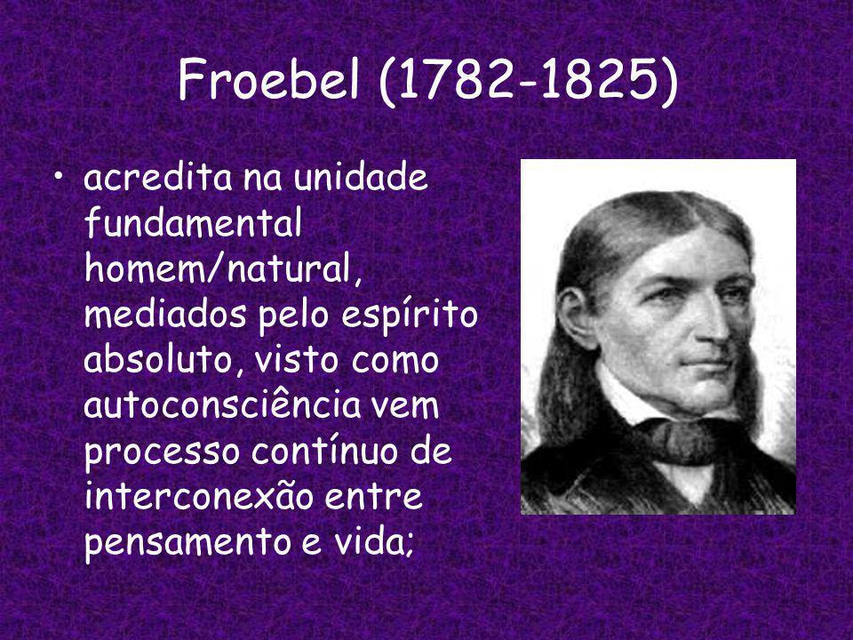 Froebel (1782-1825)