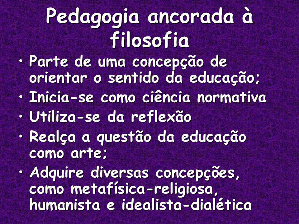 Pedagogia ancorada à filosofia