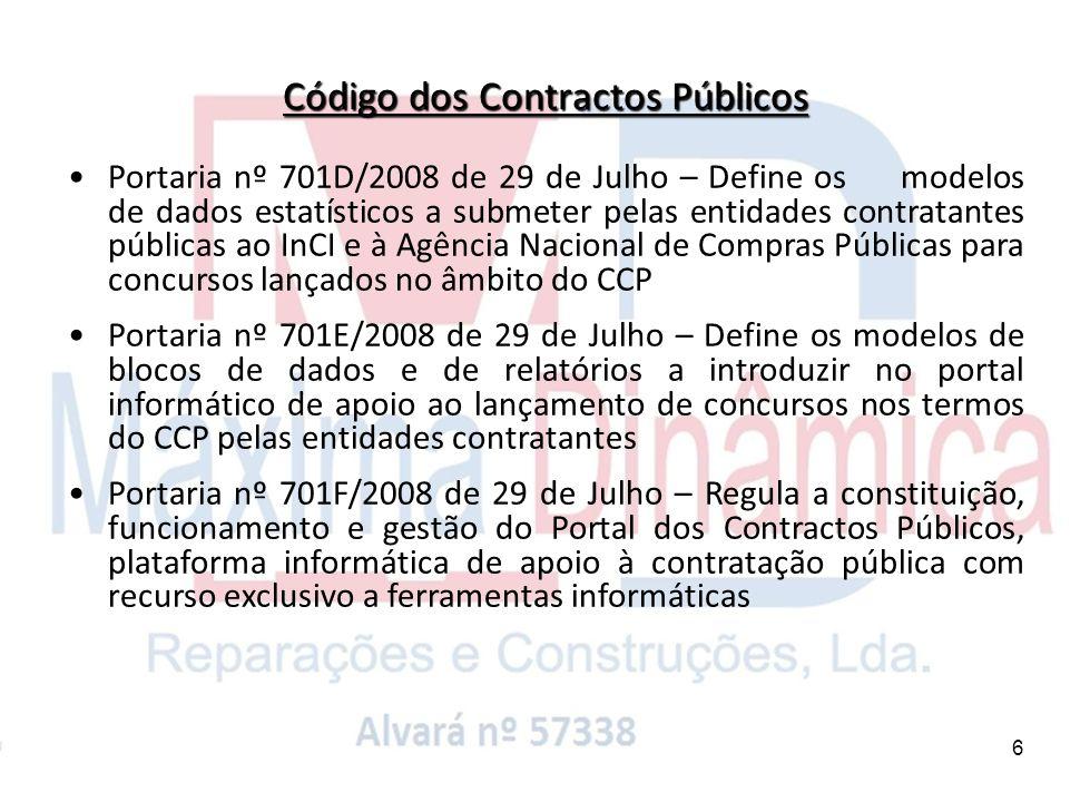 Código dos Contractos Públicos