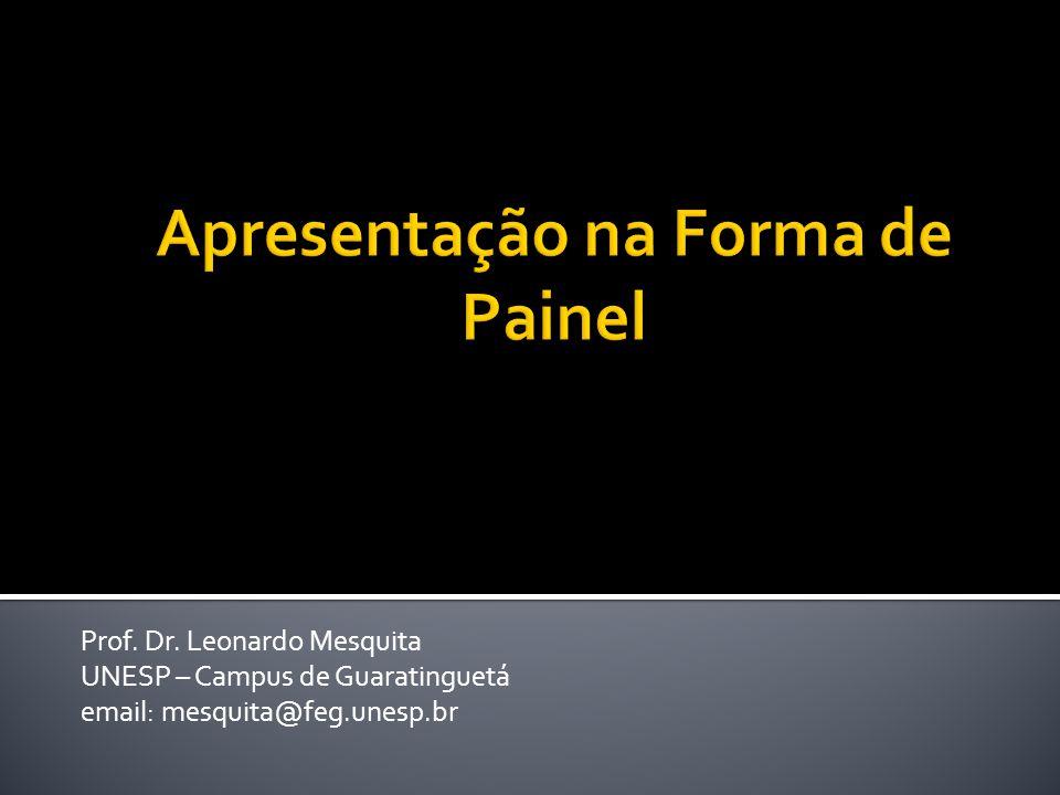 Apresentação na Forma de Painel