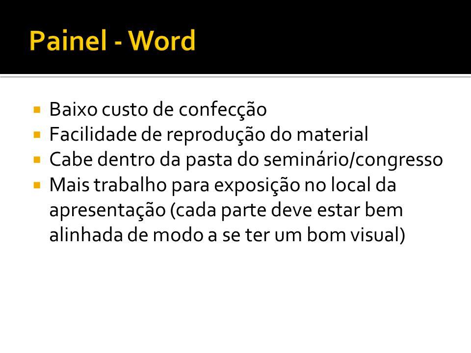Painel - Word Baixo custo de confecção