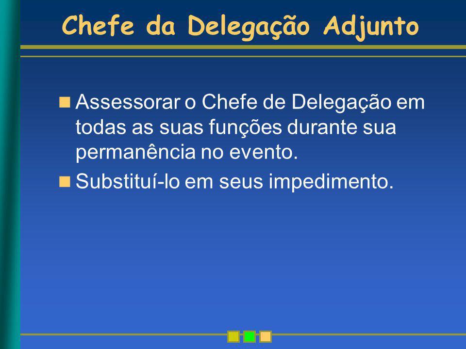 Chefe da Delegação Adjunto