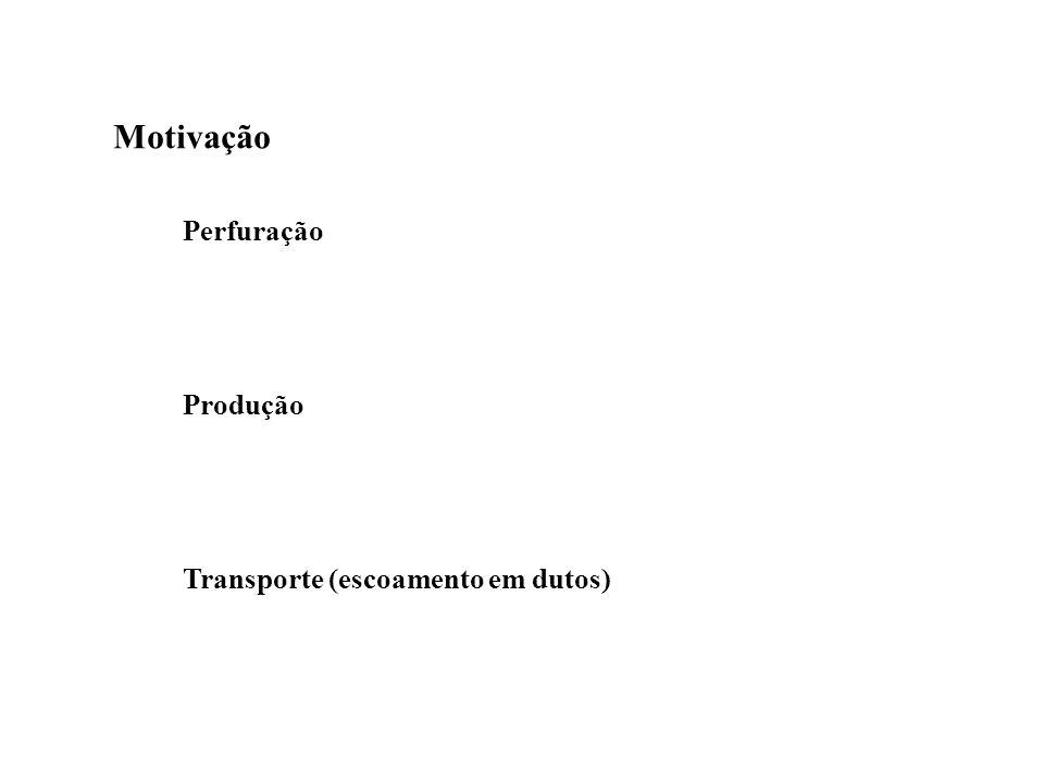 Motivação Perfuração Produção Transporte (escoamento em dutos)