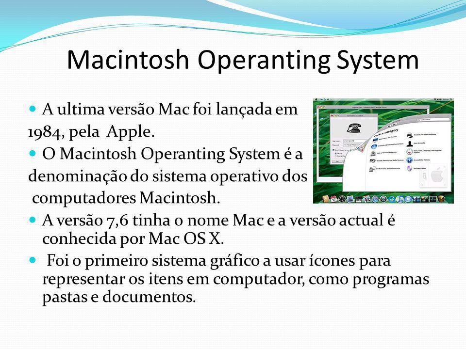 Macintosh Operanting System