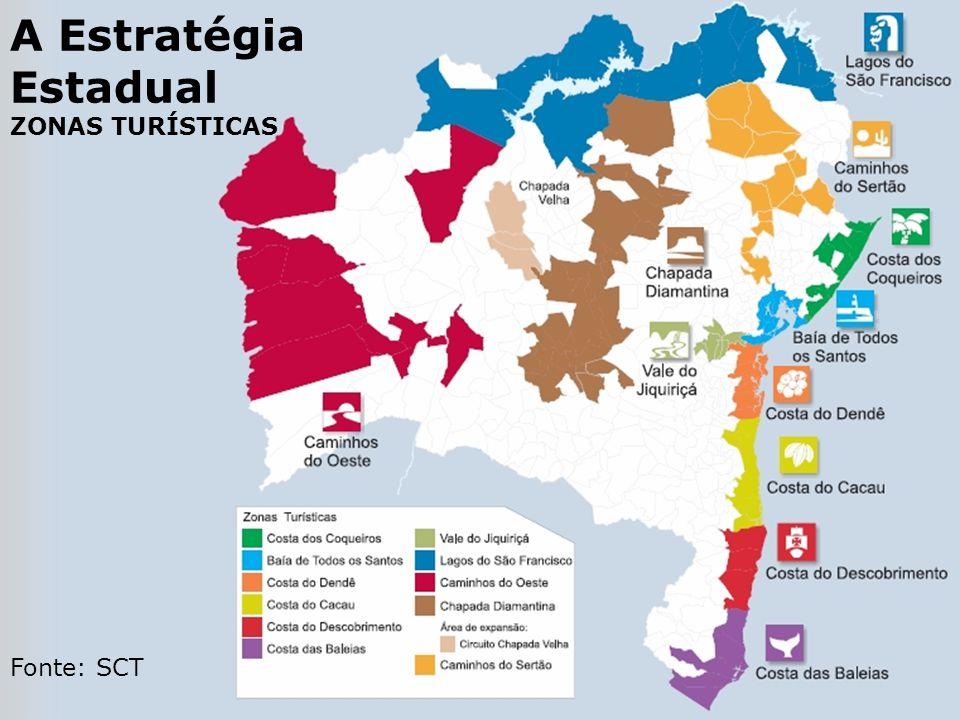 A Estratégia Estadual ZONAS TURÍSTICAS Fonte: SCT