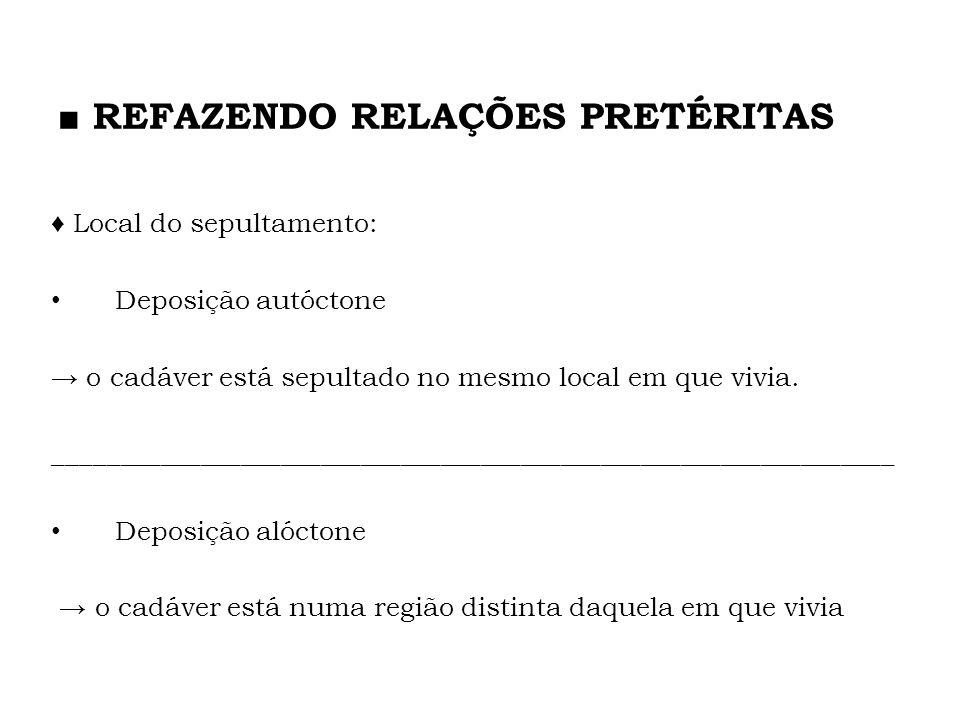 ■ REFAZENDO RELAÇÕES PRETÉRITAS