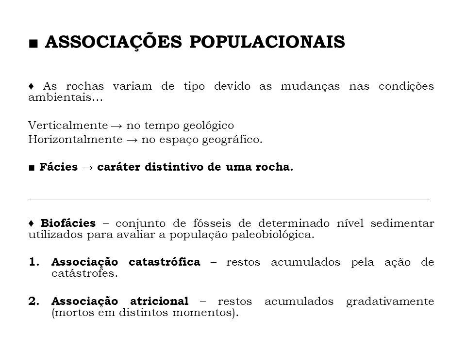 ■ ASSOCIAÇÕES POPULACIONAIS