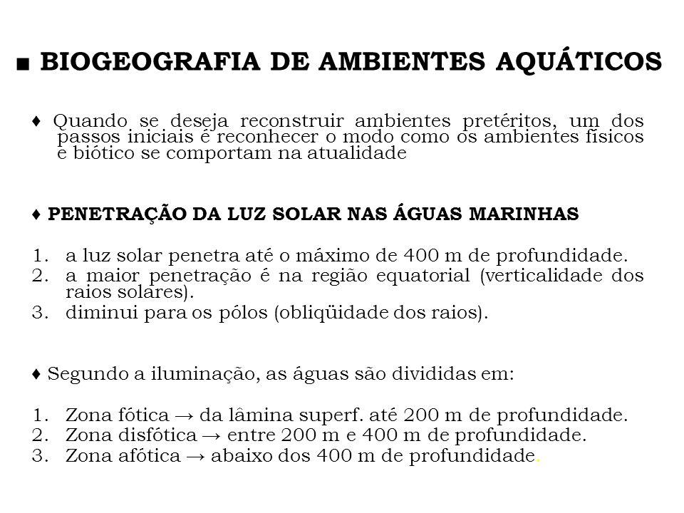 ■ BIOGEOGRAFIA DE AMBIENTES AQUÁTICOS