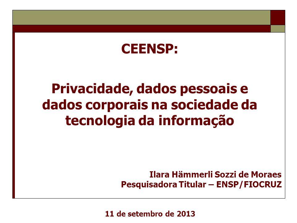 Privacidade, dados pessoais e dados corporais na sociedade da
