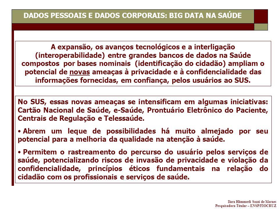 DADOS PESSOAIS E DADOS CORPORAIS: BIG DATA NA SAÚDE