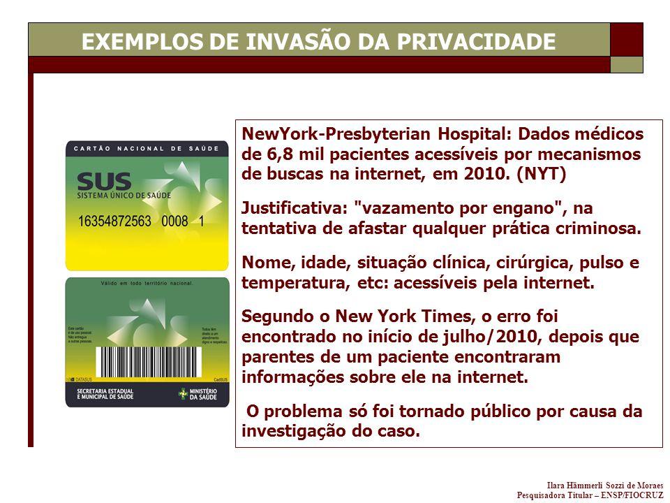 EXEMPLOS DE INVASÃO DA PRIVACIDADE