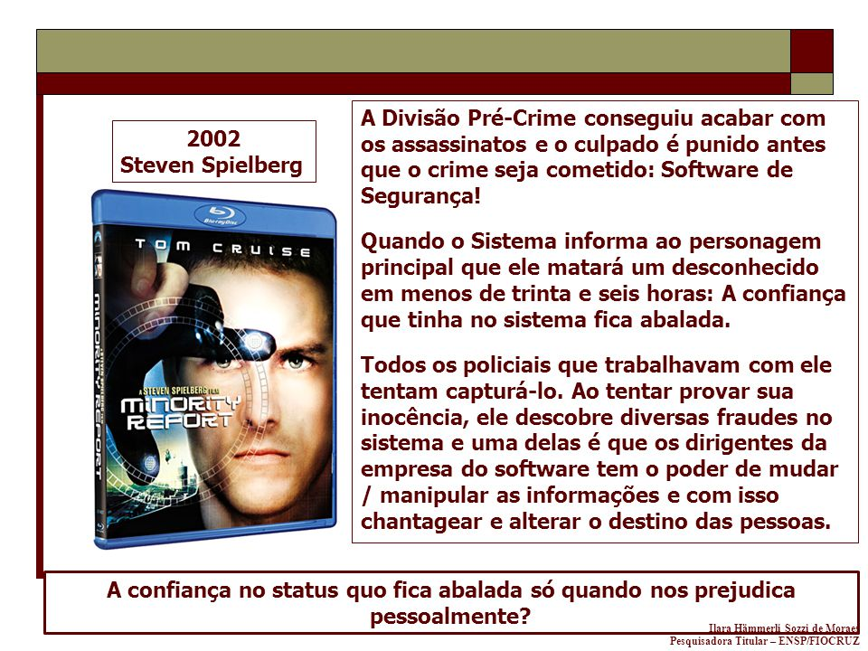 A Divisão Pré-Crime conseguiu acabar com os assassinatos e o culpado é punido antes que o crime seja cometido: Software de Segurança!