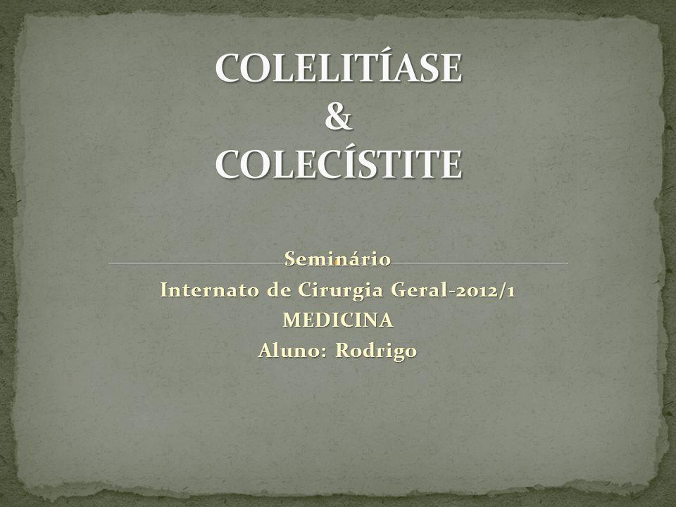 COLELITÍASE & COLECÍSTITE