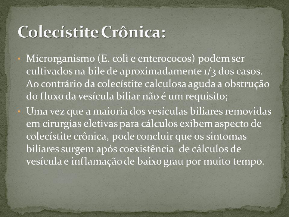 Colecístite Crônica: