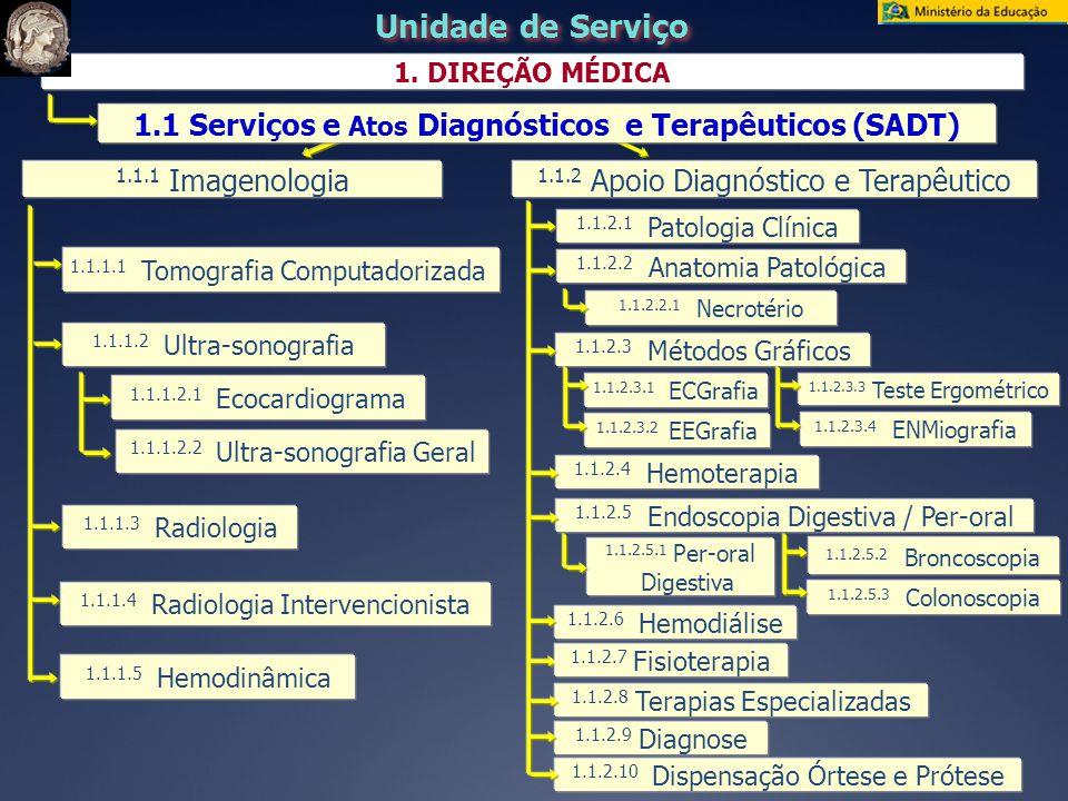 1.1 Serviços e Atos Diagnósticos e Terapêuticos (SADT)