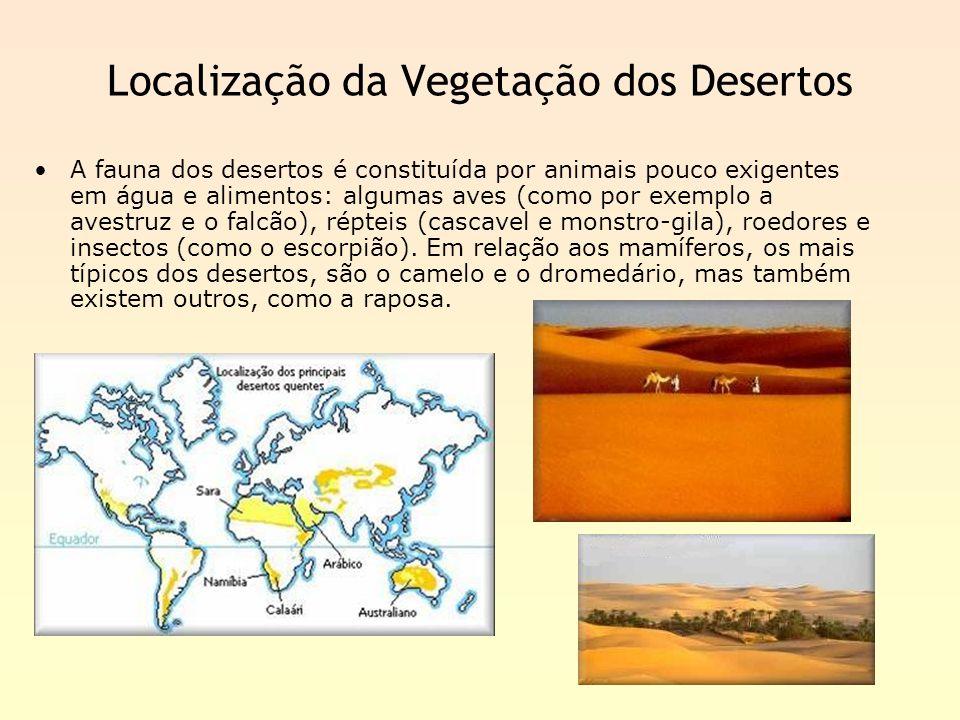 Localização da Vegetação dos Desertos