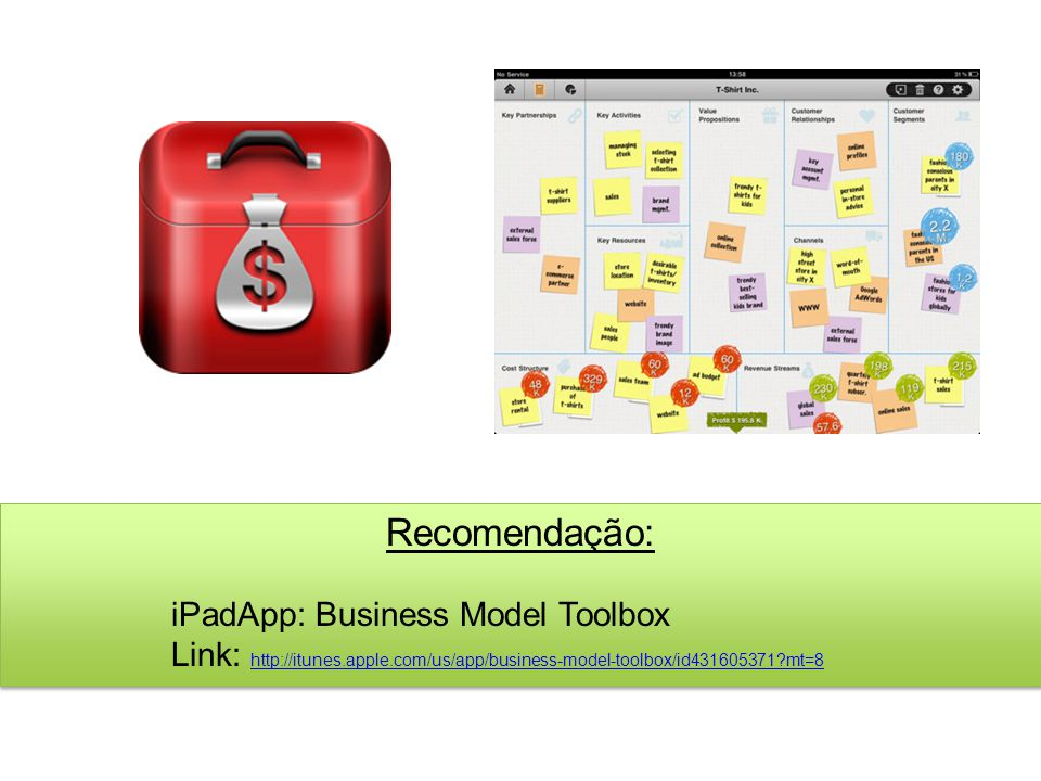 Recomendação: iPadApp: Business Model Toolbox