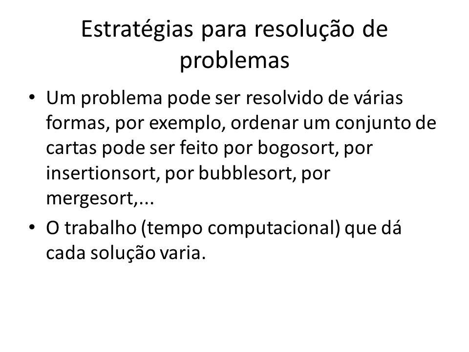 Estratégias para resolução de problemas