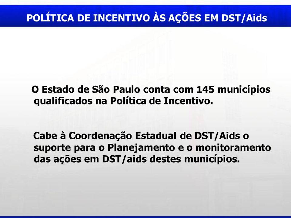 POLÍTICA DE INCENTIVO ÀS AÇÕES EM DST/Aids