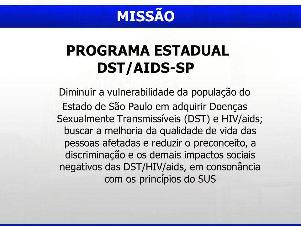 MISSÃO PROGRAMA ESTADUAL DST/AIDS-SP