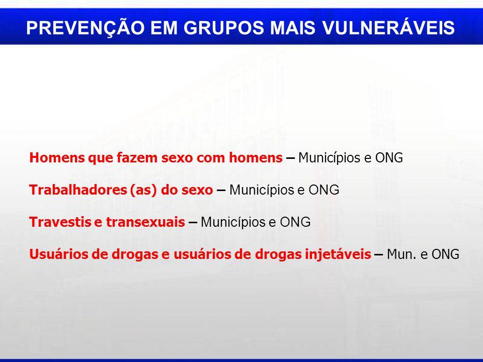 PREVENÇÃO EM GRUPOS MAIS VULNERÁVEIS