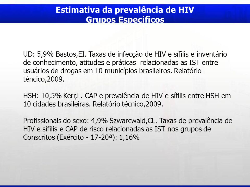 Estimativa da prevalência de HIV