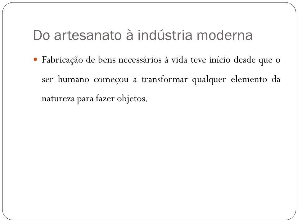 Do artesanato à indústria moderna