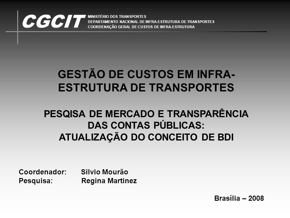 GESTÃO DE CUSTOS EM INFRA-ESTRUTURA DE TRANSPORTES