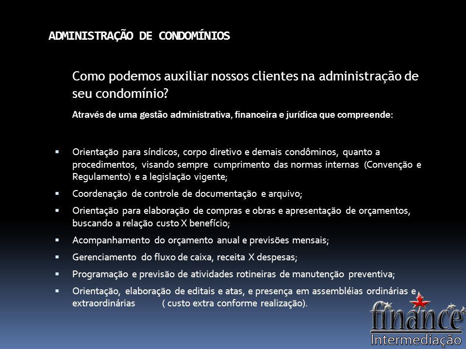 ADMINISTRAÇÃO DE CONDOMÍNIOS
