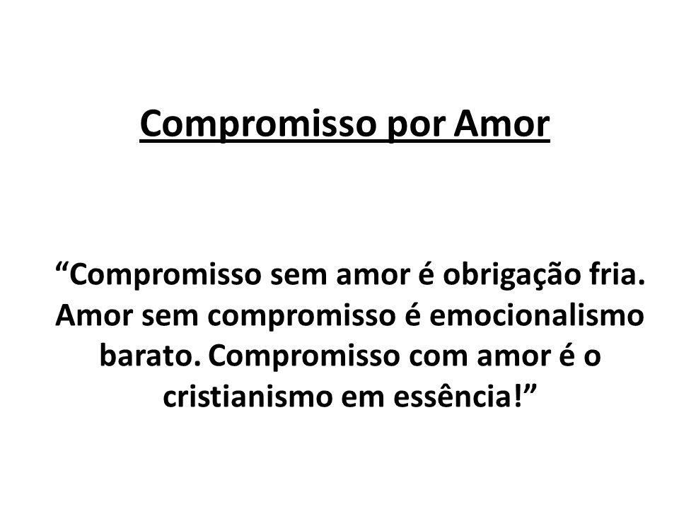 Compromisso por Amor