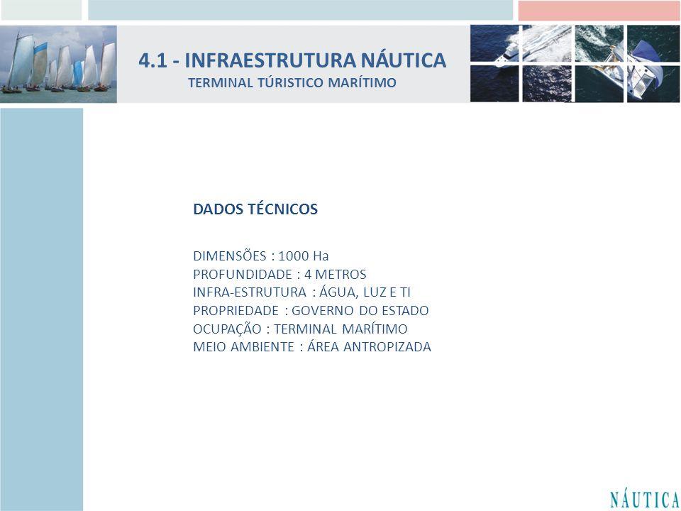 4.1 - INFRAESTRUTURA NÁUTICA TERMINAL TÚRISTICO MARÍTIMO