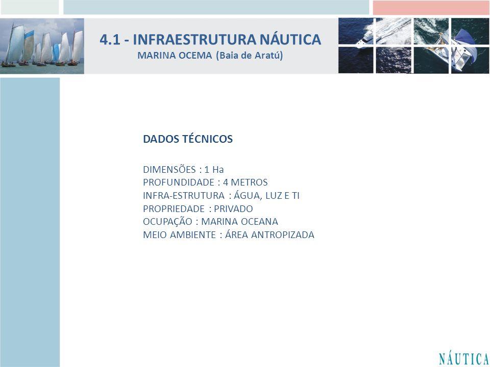 4.1 - INFRAESTRUTURA NÁUTICA MARINA OCEMA (Baia de Aratú)
